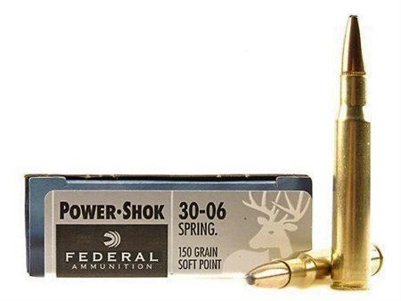 Federal Power Shok 30-06 Spring 150gr Soft point.