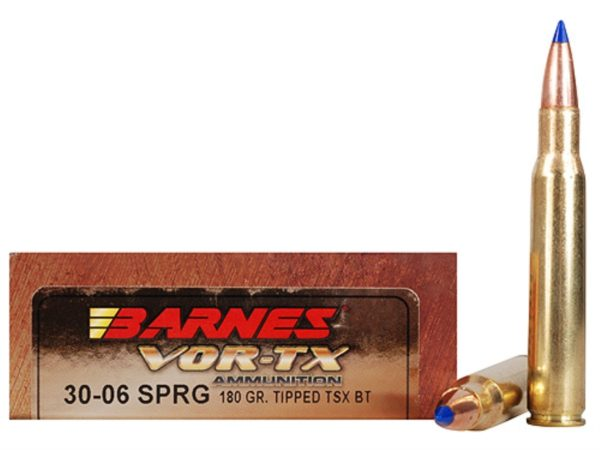 Barnes Vor-tx 30-06 Spring 180gr Tipped TSX Bow Tail