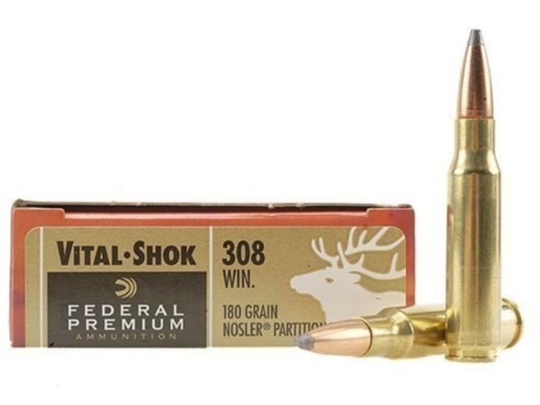 Federal Vital-shok 308 180gr Nosler partition